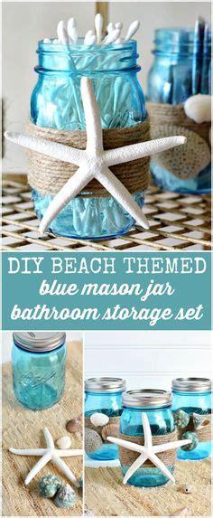 Diy Beach Themed Bathroom Mason Jar Storage Set Craft