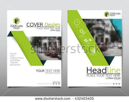Blue And Green Vector Brochure Flyer Design Template Blue Green Flyer Cover Business Brochure Stock Vector