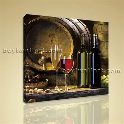 cuisine decorative hd print abstract painting wall on canvas wine food