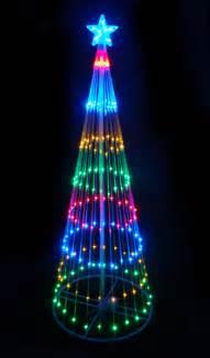 9 multi led light show cone christmas tree yard art ebay