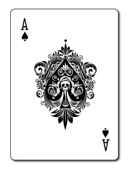 ace  spades  images card tattoo designs card