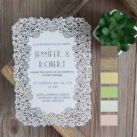 laser cut wedding invitations flower laser cut wedding invitations efws001 as