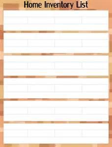 Printable Home Inventory List