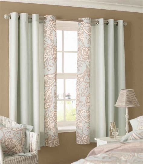 Elegant White Patterned Curtains   HomesFeed