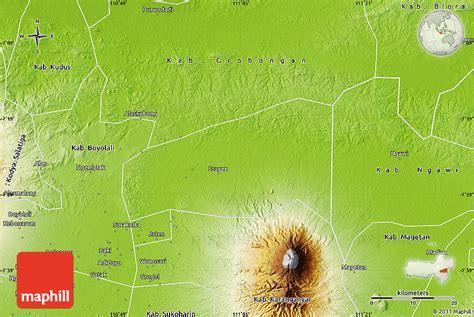 physical map  kab sragen