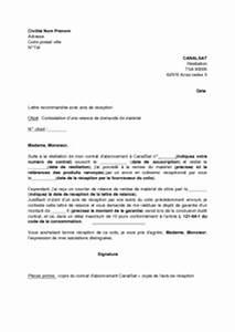 Modele De Lettre De Relance : exemple gratuit de lettre contestation une relance retour mat riel par canalsat d codeur ~ Gottalentnigeria.com Avis de Voitures
