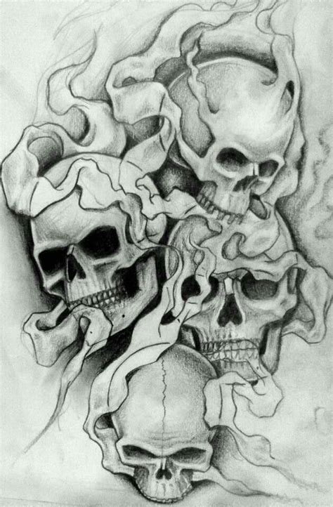 images  drawings sketch  pinterest skull art chicano tattoos  character