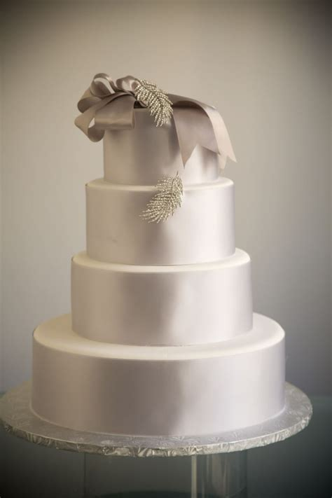 Simply Elegant Ribbon Wedding Cakes Ribbon Wedding And