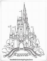 Coloring Castle Pages Frozen sketch template