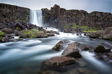 Oxararfoss Waterfall, Iceland  Wishing To Get Farrrr Away
