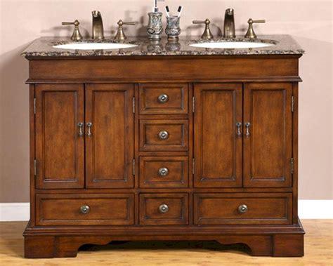 Granite Bathroom Vanity by Silkroad 48 Quot Bathroom Vanity Brown Granite Top