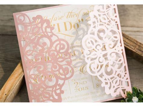 lasercut einladungskarte hochzeit traum  rosa