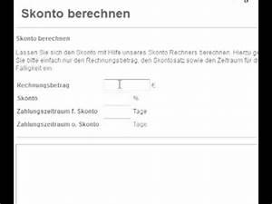 Skonto Berechnen Beispiel : skonto berechnen youtube ~ Themetempest.com Abrechnung