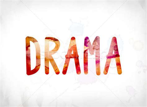 Drama Concept Painted Watercolor Word Art Stock Photo