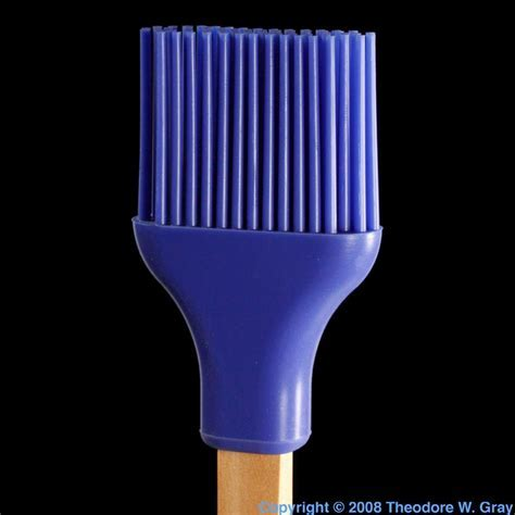 Silicone brush, a sample of the element Silicon in the