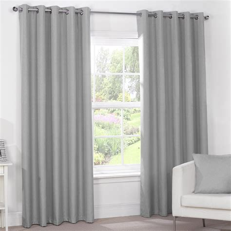 grey blackout curtains silver grey luxury thermal blackout eyelet curtains
