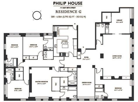 27595 5 bedroom floor plans philip house 141 east 88th carnegie hill condos