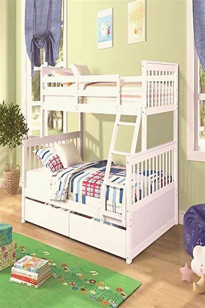 Bed Bunk Wood Drawers Solid Twin Frame