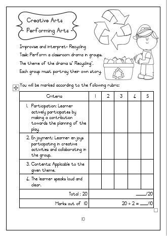 grade  life skills assessment term   juffrou