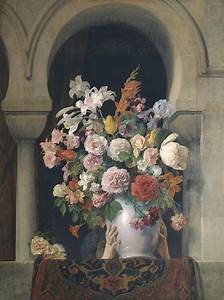 Vase Of Flowers On The Window Of A Harem Pinacoteca Di Brera