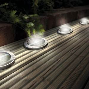 Led In Decke : stainless steel solar led light deck ground lights a set of four lights patio light ~ Markanthonyermac.com Haus und Dekorationen