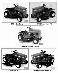 John Deere Stx38  Stx46  Stx30d Riding Lawn Tractors