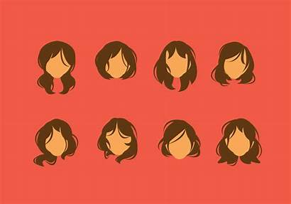 Messy Hair Vector Clipart Woman Hairstyles Hairstyle