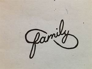 Cool idea for a tattoo. Family intwined in an infinity ...
