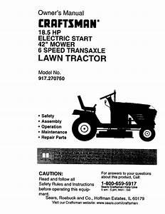 Craftsman 917 270750 User Manual