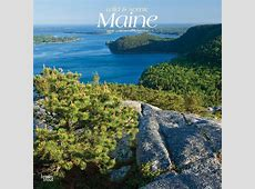 Maine, Wild & Scenic 2019 12 x 12 Inch Monthly Square Wall