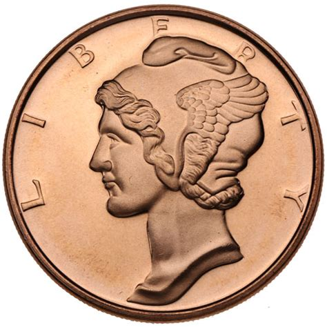 Maybe you would like to learn more about one of these? Buy 1 oz Mercury Dime Copper Rounds Online l JM Bullion™