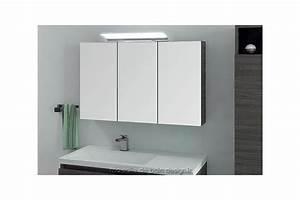 Miroir Meuble Salle De Bain : armoire salle de bain triple ~ Teatrodelosmanantiales.com Idées de Décoration