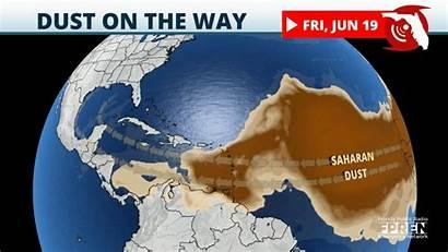 Dust Saharan Florida Way Storms Week Wkgc