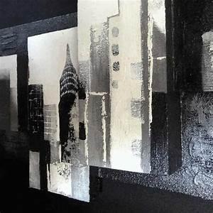 Peinture En Noir Et Blanc : tableau 3d new york 160 x 50 cm ~ Melissatoandfro.com Idées de Décoration