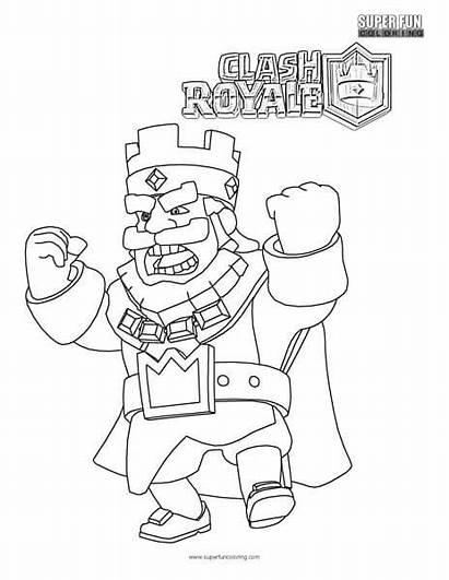 Clash Royale Coloring Pages Cool Character Games