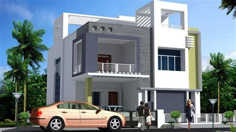 Modern Double Floor House Front Elevation Plans And