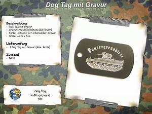 Dog Tag Gravur : dog tag panzergrenadiere anh nger gravur erkennungsmarke bundeswehr ebay ~ Buech-reservation.com Haus und Dekorationen