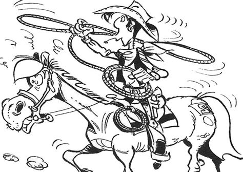 Kleurplaat De Daltons by Lucky Luke Spinning Lasso Coloring Page Coloring Sky