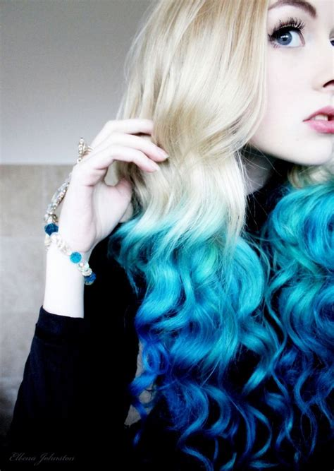 hair trends   hottest blue dip dye hair colors