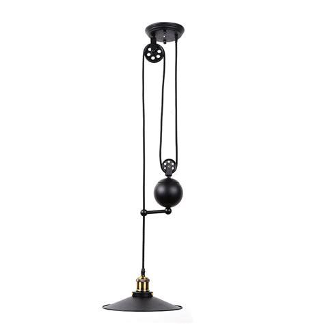vintage edison industrial pulley pendant light adjustable