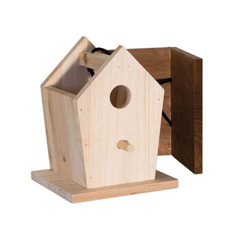 cabane a oiseaux en bois nichoir pour oiseaux en bois pour abriter les petits oiseaux des villes