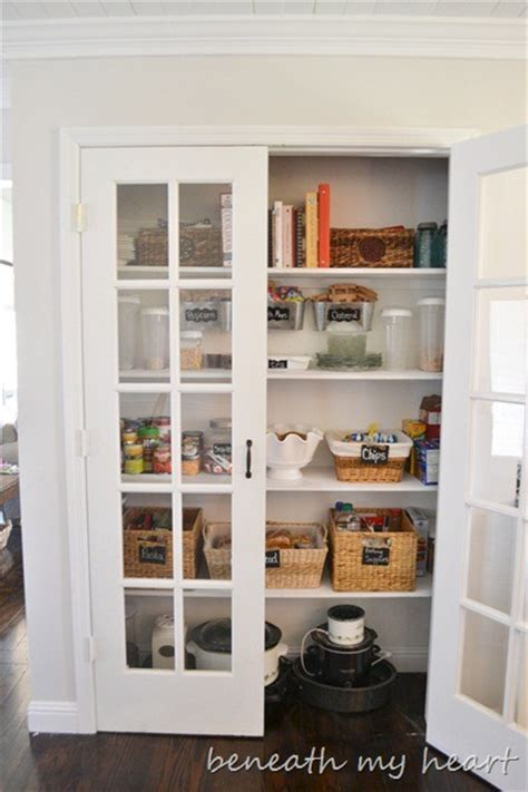 organized pantry beneath  heart
