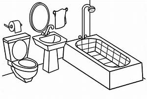 Modern and Clean Bathroom Coloring Page - Coloring Pages
