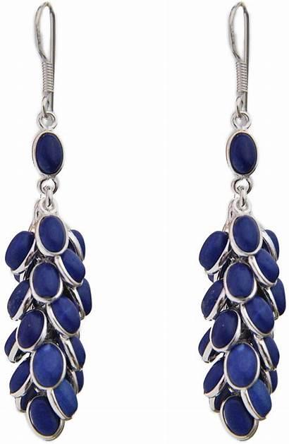Lapis Earrings Lazuli Bunch Jewelry Gt68