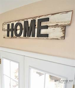 DIY Farmhouse Style Home Sign - Little Vintage Nest