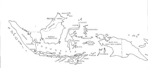 indonesia map black  white black  white map