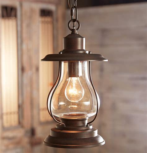 Weathered Patina Lantern Pendant Light