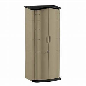 shop rubbermaid faint maple onyx resin outdoor storage With kitchen cabinets lowes with resin outdoor wall art