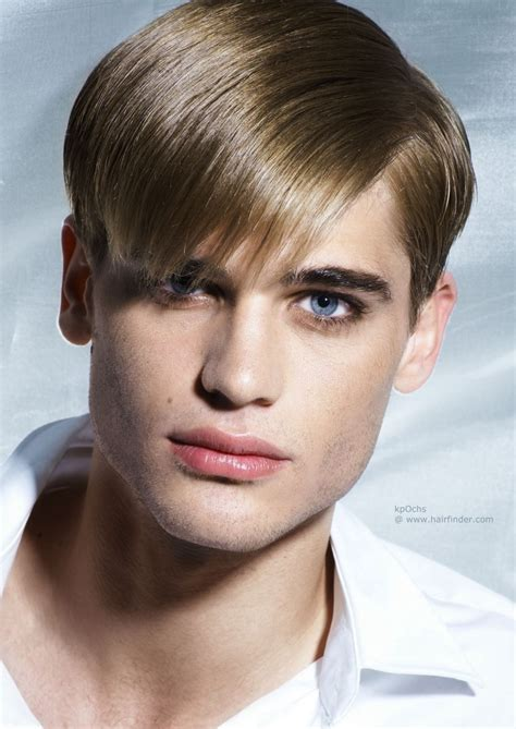 Retro men's hairstyle with sleekness and shine