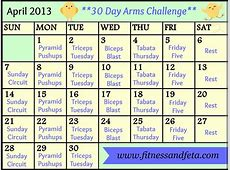 30 Day April Arms Challenge Achieve with Athena
